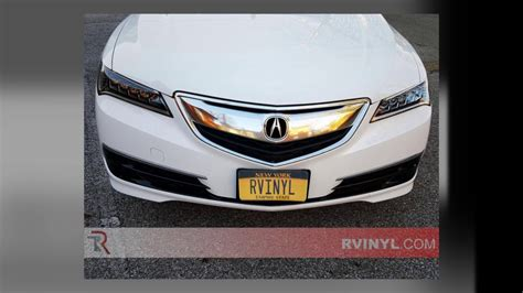 rtint   acura tlx headlight tint youtube