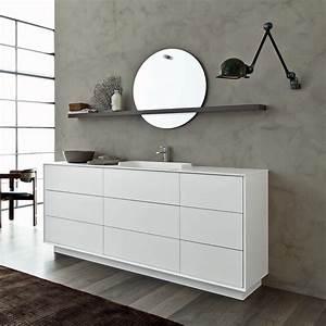 Composizione mobili bagno a terra moderni novello libera3d for Mobili bagno a terra moderni