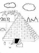Coloring Pyramid Pages Farm Shoe sketch template