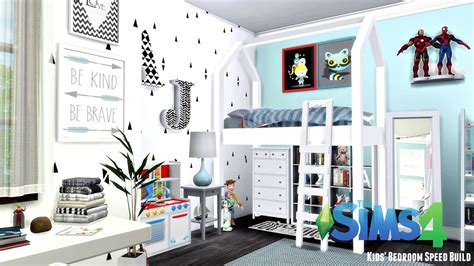 boy bedroom furniture the sims 4 39 room speed build