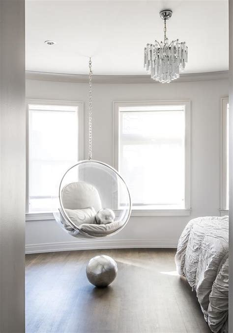 bedroom hanging chair bedroom with acrylic hanging chair contemporary