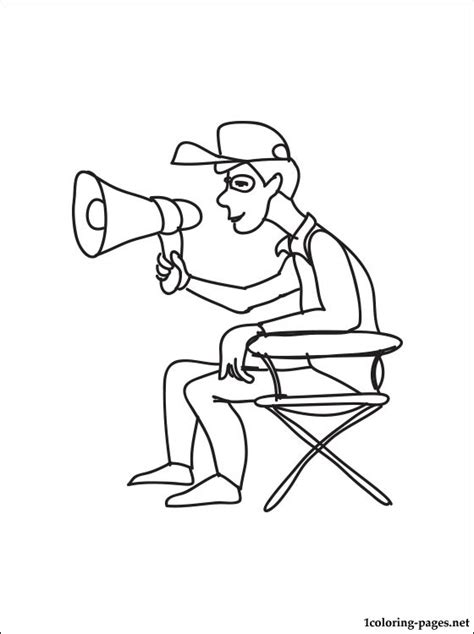 coloring page   film director coloring pages