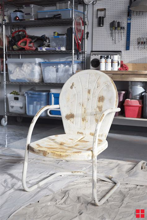 metal chair makeover before rust painted stops paint furniture outdoor chairs spray decor craft patio rustoleum project painting rusty clean
