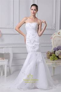 Trumpet mermaid organza wedding dress long evening for Mermaid trumpet wedding dresses