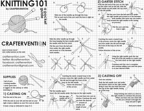 knitting basics cheat sheets for the knitter u create