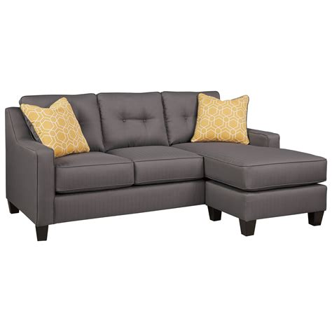 chaise lounge sleeper sofa benchcraft aldie nuvella 6870268 sofa chaise sleeper in performance fabric dunk bright