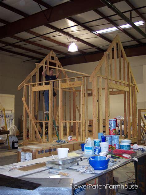 building   shed flower patch farmhouse