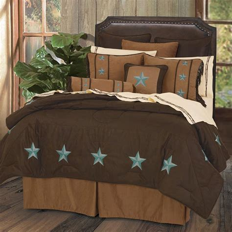 turquoise comforter set turquoise star laredo bedding sets cabin place