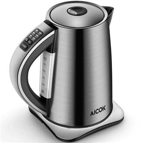 electric kettle kettles water tea aicok temperature variable stainless steel cordless amazon 1500w sensitive thermometers leaf coffee french press