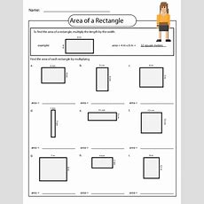 Area Of A Rectangle Worksheet  School Things  Free Math Worksheets, Area Worksheets, Math