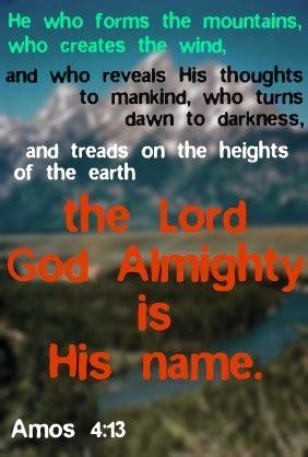 amos   lord god almighty     faith