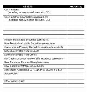 Personal Net Worth Template 8 Sample Personal Financial Statements Sample Templates