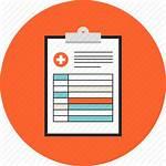 Icon Report Medical Document Prescription Clinical Health