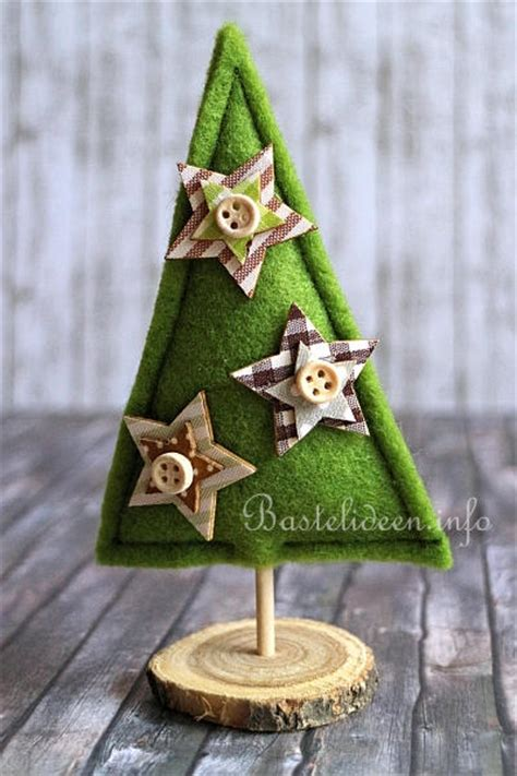 basteln und naehen zu weihnachten kleine weihnachtsbaeume aus filz