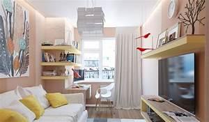 Wandgestaltung Kinderzimmer Mädchen : wandgestaltung jugendzimmer m dchen wandfarbe aprikose gelbe wandregale akzente kinderzimmer ~ Sanjose-hotels-ca.com Haus und Dekorationen
