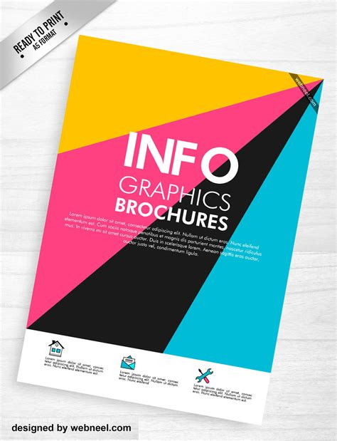 Brochure Design With Trifold Colorful Template Colorful Corporate Brochure Template Design 7