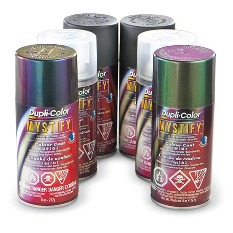 paint changing color when duplicolor 174 mystify color changing paint kit silver