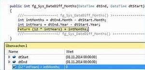 Datumsdifferenz Berechnen : datediff in c berechnen der anzahl monate zwischen zwei datum variablen codedocu de net ~ Themetempest.com Abrechnung