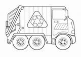 Truck Garbage Coloring Worksheets Activities Preschool sketch template