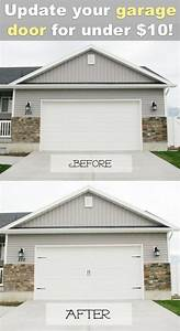 42 diy ideas to increase curb appeal carriage style for Carriage style garage doors kit