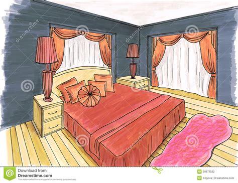 croquis chambre a coucher croquis graphique d 39 une chambre à coucher intérieure