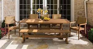 Patio Dining Sets. Bond Campbell 7piece Faux Wood Fire ...