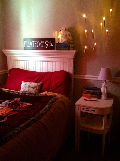 floating candles   harry potter bedroom harry