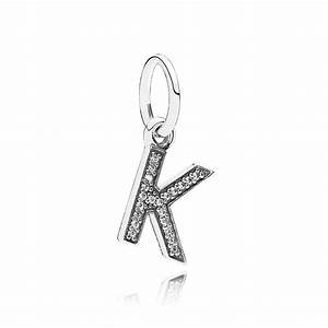 pandora letter k pendant charm 791323cz from gift and wrap uk With pandora necklace letter charms