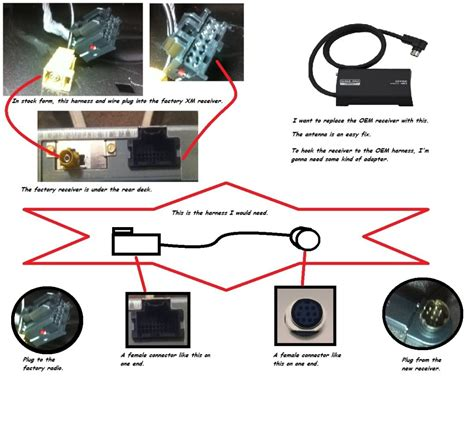 Gm Xm Wiring Diagram by Swapping Oem Xm Receiver With Aftermarket Via Harness