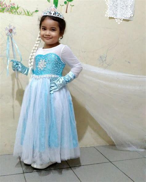 jual baju kostum anak princess elsa frozen gaun pesta ulang tahun ultah di lapak denka costume