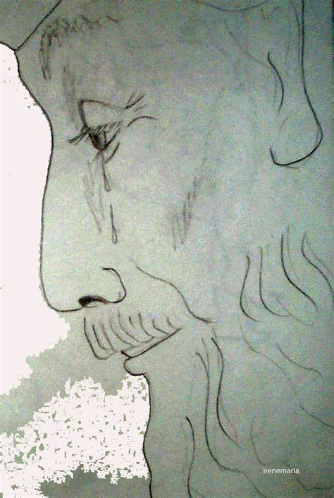 man crying drawing  irenemaria