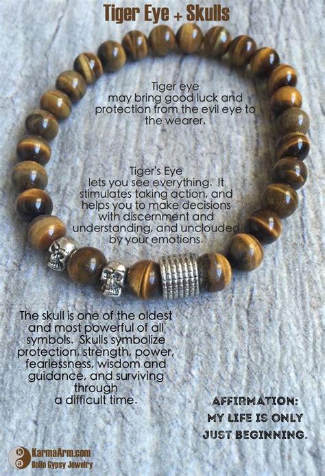 Insight Tiger Eye Skulls Yoga Chakra Bracelet