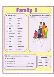 worksheet  family vocabulary genitive case