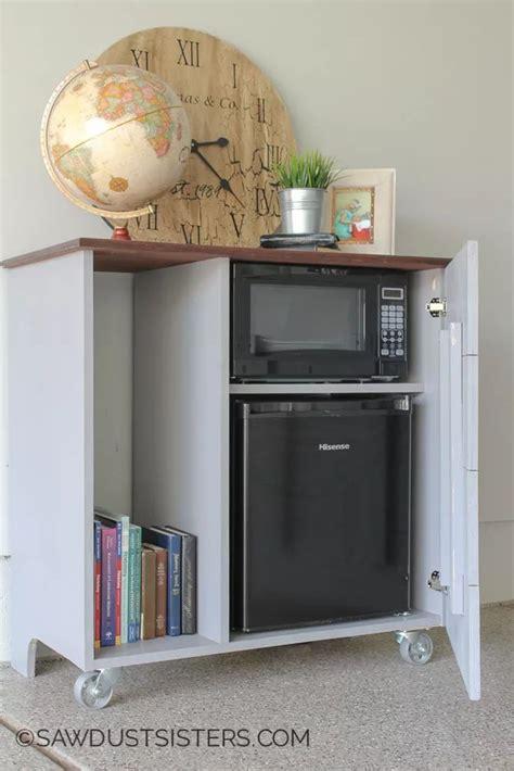 diy mini refrigerator storage cabinet  plans