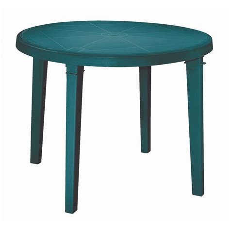 resin outdoor dining table stunning round plastic patio table patio 037063104352