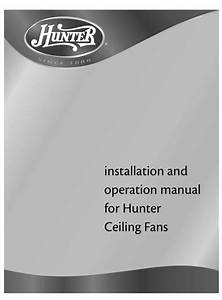 Hunter Ceiling Fan User Manual