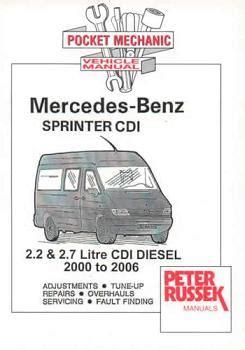 automotive service manuals 2010 mercedes benz sprinter engine control 2000 2006 mercedes benz dodge sprinter with 2 2l cdi 2 7l cdi diesel engines russek