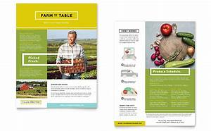 organic food datasheet template design With sales slick template