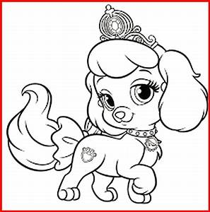 Ausmalbild Prinzessin Hund - Rooms Project - Rooms Project