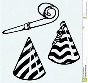 Noise Maker Black And White Clipart
