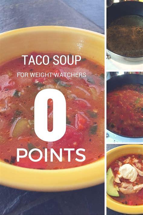 weight watchers  points taco soup recipe ww