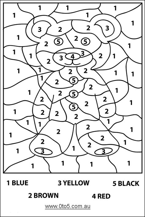 Coloring Pages Number Pages Coloring Bear Color By Numbers Bear Coloring Pages Color, Color By