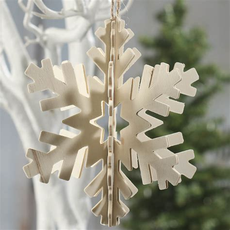unfinished wood snowflake ornament wood cutouts