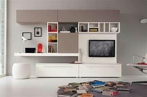 Schreibtisch Im Wohnzimmer Integrieren : wohnwand mit schreibtisch wohnzimmer einrichtung buero idee ~ Bigdaddyawards.com Haus und Dekorationen