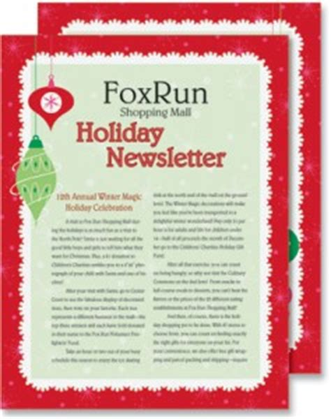 christmas letter ideas how to write your company s 20848 | Christmas Fantasy Newsletters 237x300