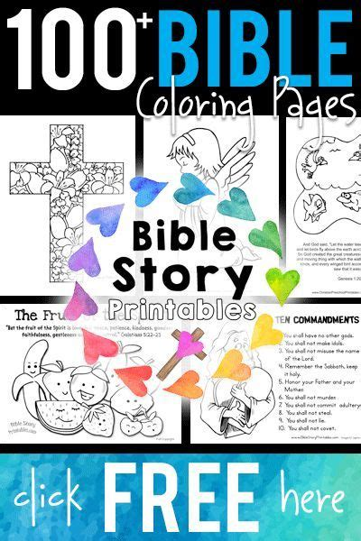 bible story for preschoolers free bible coloring pages from bible story printables 813