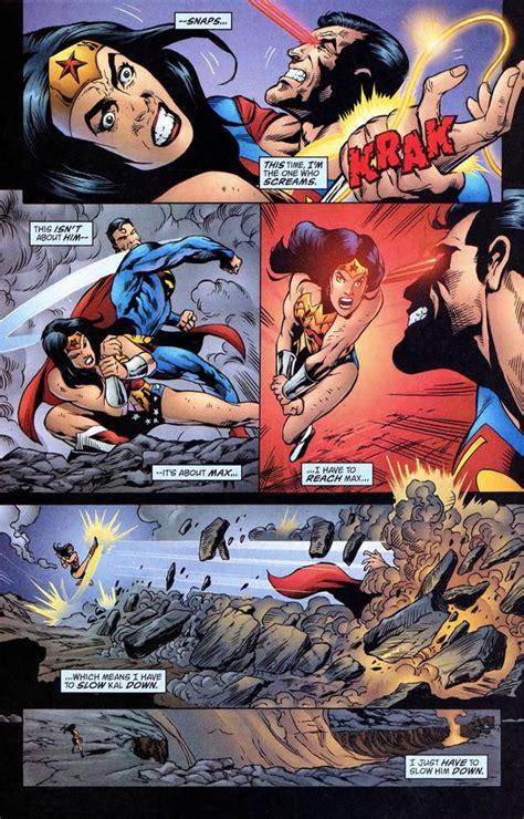 superman vs wonder woman battles comic vine