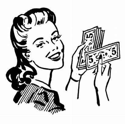 Money Retro Clip Moms Graphics Mom Enlarge