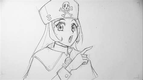 manga tutorial   draw pirate girl step  step