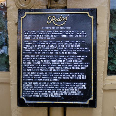 rules restaurant  london remembers aiming  capture
